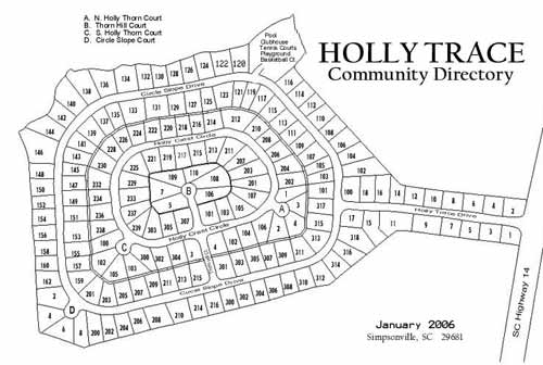 Holly Trace Map